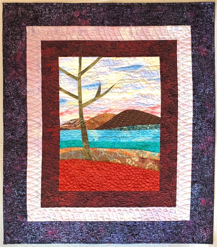 The Old Tree, 2nd Place Small Quilts, CA State Fair 2019